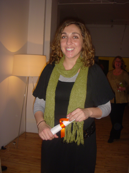 Allison Mezzafonte from AOL Living & Home was one of the night's big winners!