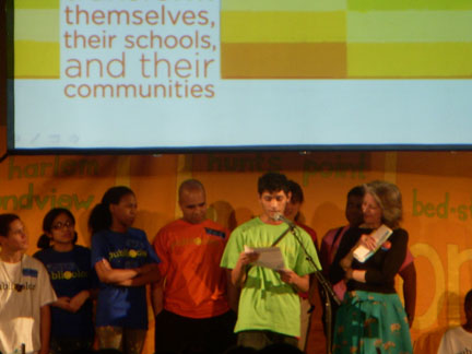 Students sharing heartfelt stories of how Publicolor has made a difference in their lives