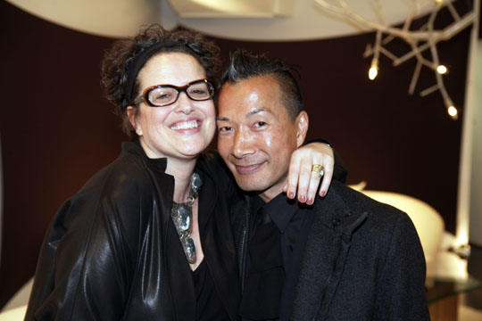Interior Design's Editor-in-Chief Cindy Allen and designer DB Kim
