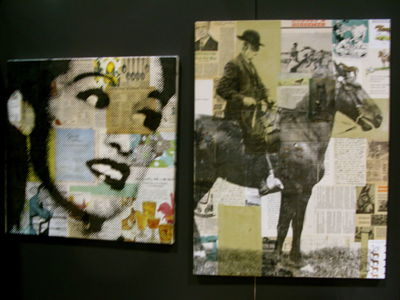 Mixed media collage portraiture by Michelle Caplan