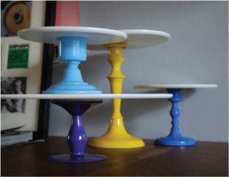iacoli & mcallister's mini-pedestals... available in 9 bold colors