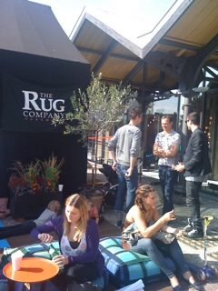 The Rug Compant tent