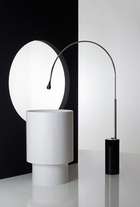 A Goccia Collection tap and basin