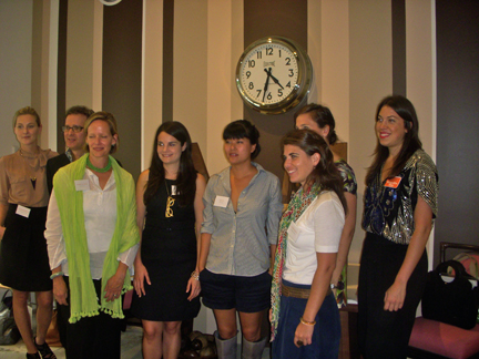 From L-R: Nina Freudenberger, The Cultivated Home; Barry Goralnick, The Designers Collaborative; Patricia van Essche, PVE Design; Michelle Adams, M.A. Belle Blog; Jean Lin, Otto; Erin Kilmartin, The Cultivated Home; Danielle De Vita, Design-Calendar, Callie Jenschke, Metropolitan Home