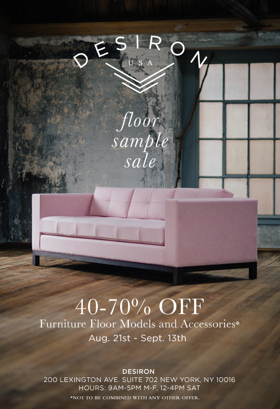 ... Sample Sale With Up To 70% Off Furniture Floor Models, Accessories, And  Home Decor. Take Home One Of Their Beautiful Bench Made Pieces And Support  Local ...