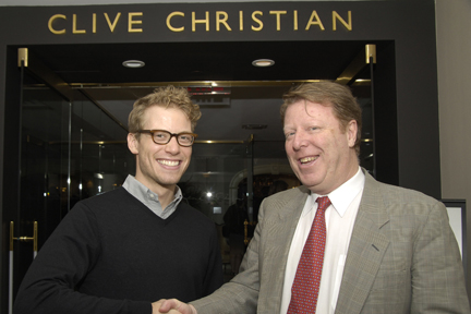 Barrett Foa with Robert Hughes, Director Global Business Development for Clive Christian