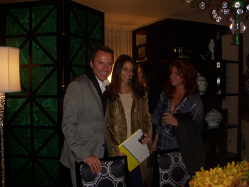 The oh-so-famous Colin Cowie mixing and mingling in the Town&Country townhouse!