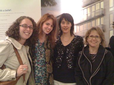 Judy Nelson, Nora Wolf (from the Loukin Company) with co- host Julie Taraska and Andrea Loukin