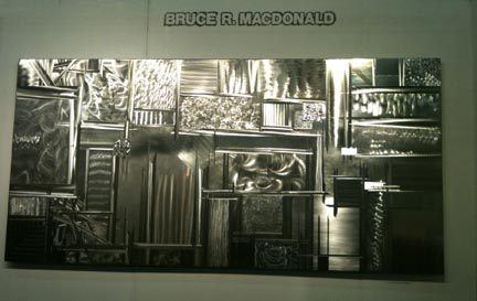 BRM Designs & Metalworks from Burlington, Vermont creates stainless steel light sculpture.  Booth: H9