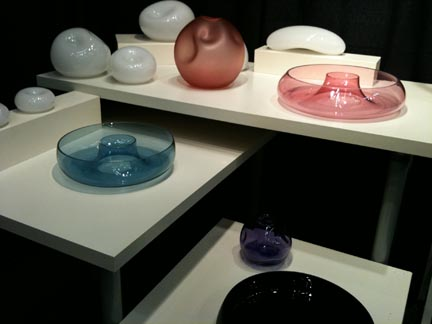 Brooklyn-based Deborah Faye Adler specializes in blown glass and jewelry.  Booth:
