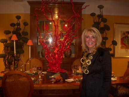 Theresa Henkelmann's designs are tied together by the vibrant use of color.  Her work can most notably be found at the Homestead Inn at Greenwich, CT, which she runs with her husband Thomas Henkelmann, proprietor and Chef.