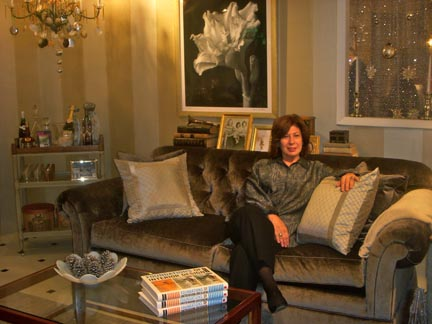 Susan Slotkis is an interior designer, educator and author.  In fact after the party, she had to teach a class at FIT.  Never a dull moment for this designing woman.