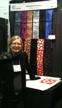 Fashion accessories and fiber art from Underground Velvet. Booth: F38