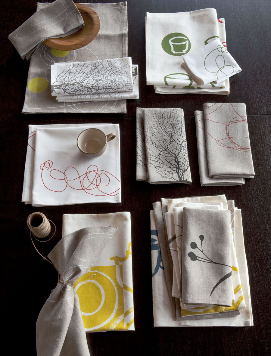 Seattle-based independent designer Dinah Coops, a first time NYIGF exhibitor, will present a collection of modern, sustainable tabletop and personal accessories.  You can find her work in the SustainAbility exhibit and her booth in Handmade no. 6014.