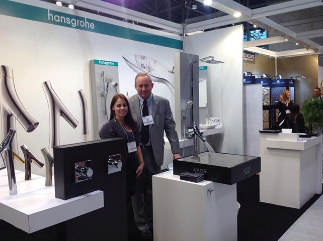 Hansgrohe/Axor shows off the sexy Axor Starck Organic collection by Philippe Starck in booth #509.