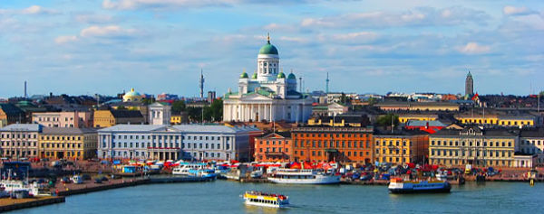 Above: The port of Helsinki, the heart of the city