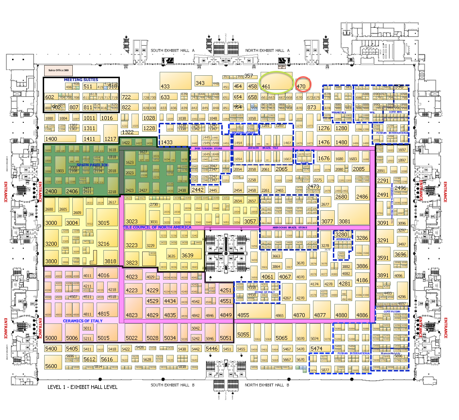 Coverings - Convention Cntr Map