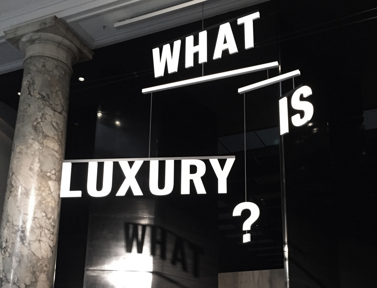 Entrance to the What is Luxury? exhibit at the V&A