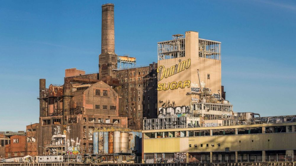 Before becoming Domino Park, the site was the home of Domino Sugar Factory. Courtesy of Paul Raphaelson.
