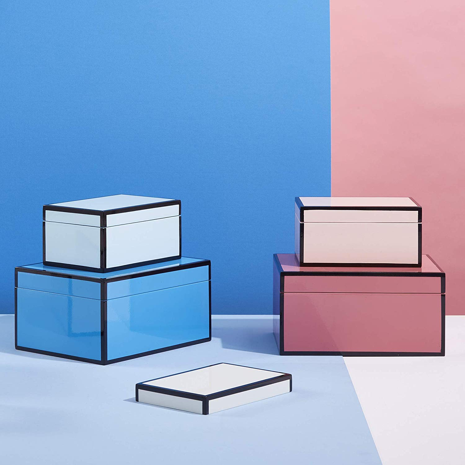 Now House by Jonathan Adler Decorative Accessories Stacking Boxes. Courtesy of Amazon.