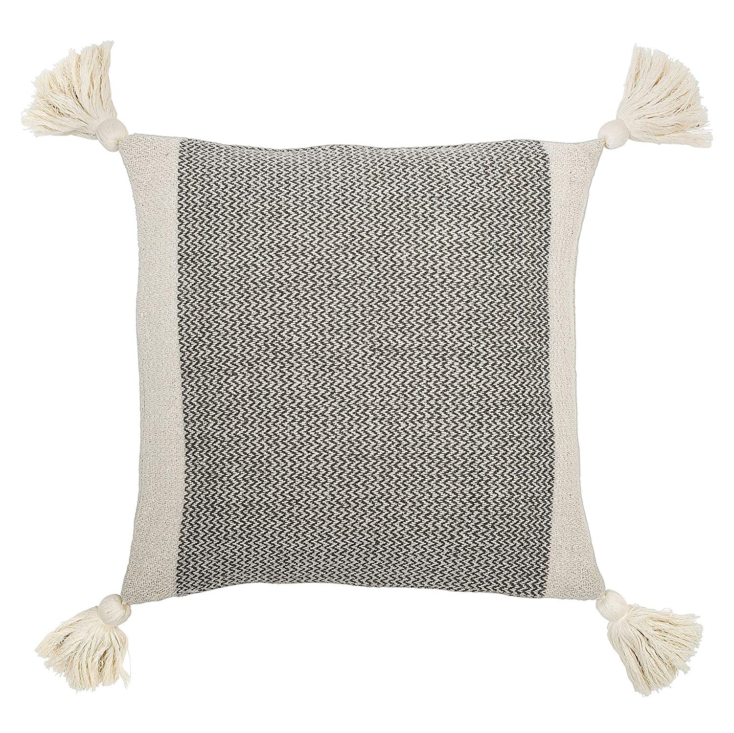 Bloomingville Grey Square Cotton Blend Pillow. Courtesy of Amazon.
