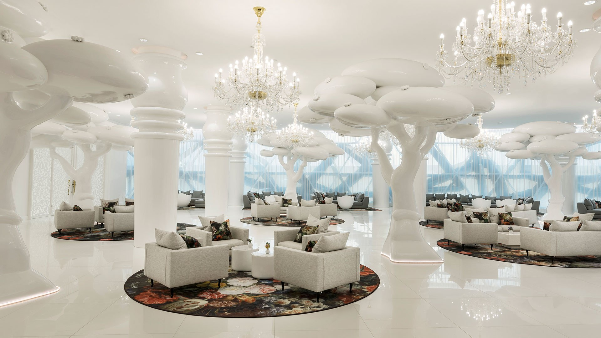 Mondrian Doha, a five-star hotel in Qatar, designed by Marcel Wanders. Courtesy of Marcel Wanders.