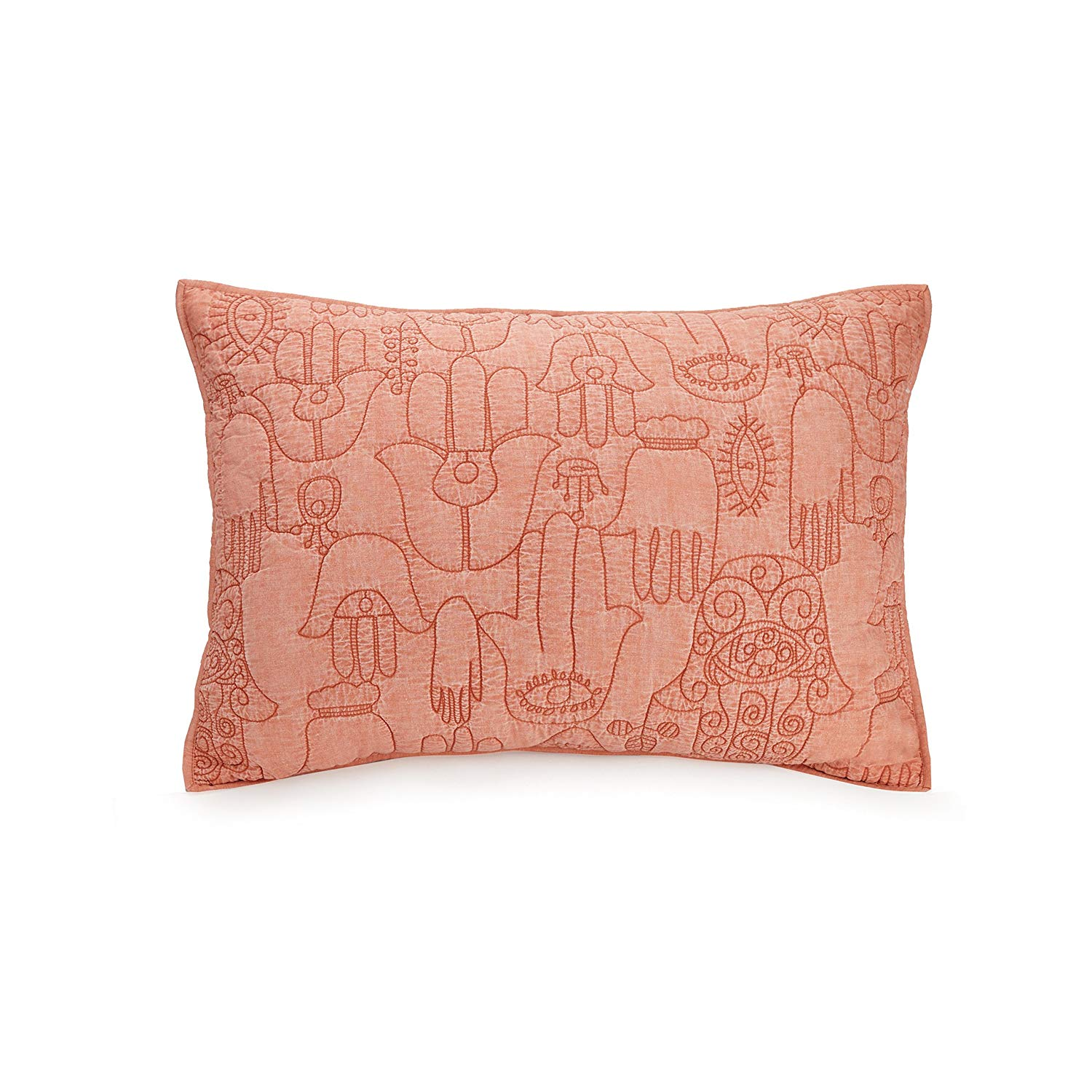 Justina Blakeney Hamsa pillow. Courtesy of Amazon.