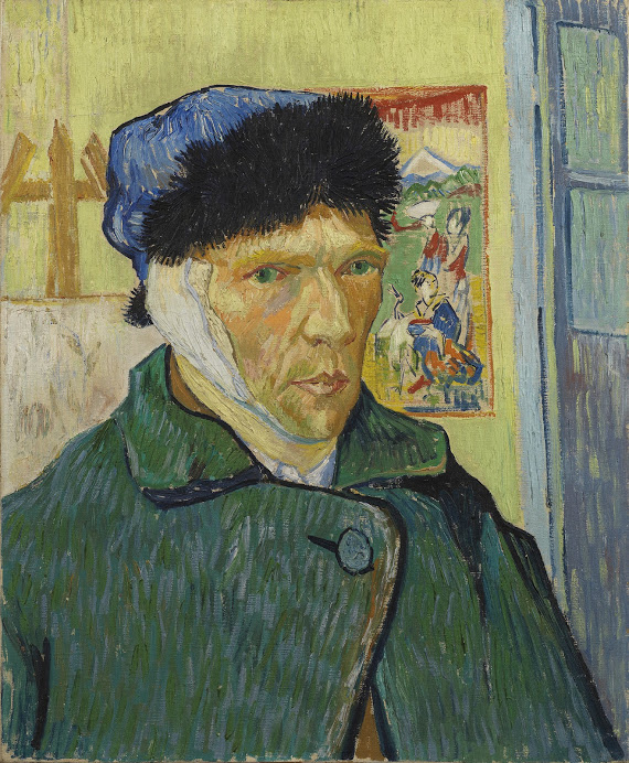 Vincent van Gogh, 'Self-Portrait with Bandaged Ear', 1889.