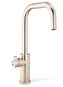 Two of seven available finishes for the HydroTap Cube.